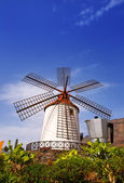 El molino de Mogan historical windmill — Stock Photo