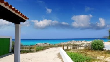 Formentera balearic islands turquoise tropical mediterranean sea on sunny summer day