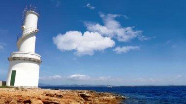 La savina маяк в formentera sabina — Стоковое видео