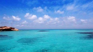 Es Calo de San Agusti port in Formentera island of Mediterranean beach — Stock Video