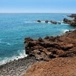 Lanzarote Punta del volcan Atlantic sea — Stock Photo #12755954