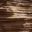 lanzarote stone mountain cross section strata — Stock Photo