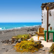 Stock Photo: El Golfo in Lanzarote white houses facades