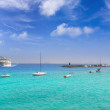 Lanzarote Playa Blanca beach in Atlantic — Foto Stock