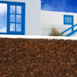 Lanzarote Playa Blanca typical white house — Stock Photo