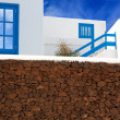 Stock Photo: Lanzarote Playa Blanca typical white house