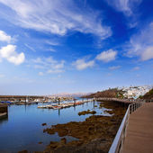 Lanzarote Puerto del Carmen port in Canaries — Stock Photo