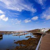 Lanzarote Puerto del Carmen port in Canaries — Stock Photo