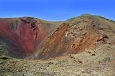 Lanzarote Timanfaya volcano crater in Canaries — Stock Photo