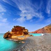 Lanzarote El Golfo Lago de los Clicos — Stock Photo