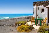 El Golfo in Lanzarote white houses facades — Stock Photo