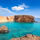 Lanzarote El Papagayo Playa Beach in Canaries — Stock Photo