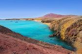 Lanzarote Playa del Pozo beach costa Papagayo — Stock Photo
