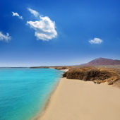 Lanzarote Playa del Pozo beach costa Papagayo — Stock Photo
