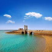 Arrecife Lanzarote castle and bridge — Stock Photo