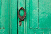 Lanzarote Teguise green door Canary Islands — Stock Photo