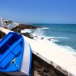 Arrieta Haria boat in Lanzarote coast at Canaries — Stock Photo