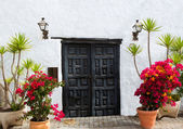 Lanzarote Teguise white village in Canary Islands — Stock Photo