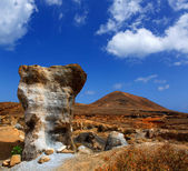 Guatiza teguis stones volcanic Lanzarote — Stock Photo