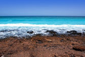 Lanzarote Punta Mujeres volcanic beach in Canaries — Stock Photo