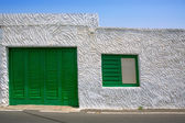 Lanzarote Punta Mujeres white house in Canaries — Stock Photo