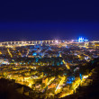 Aerial night Santa Cruz de Tenerife Canary Islands - Stock Photo