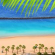Beach Las Teresitas in Santa cruz de Tenerife north - Stock Photo