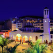 Los Cristianos night church in Tenerife — Stock Photo