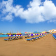 Los Cristianos beach in Arona Tenerife south — Stock Photo