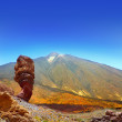 Teide National Park Roques de Garcia in Tenerife - Stock Photo