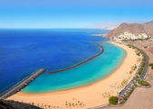 Beach Las Teresitas in Santa cruz de Tenerife north — Stock Photo