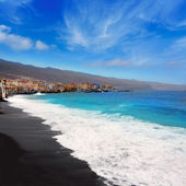 Candelaria black sand beach in Tenerife — Stock Photo