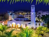 Los Cristianos night church in Tenerife — Stock Photo