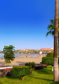 Los Cristianos beach in Arona Tenerife south — Stock Photo