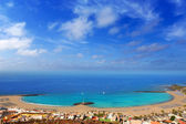 Aerial view Las Vistas beach in Arona Tenerife — Stock Photo