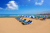 Adeje Beach Playa Las Americas in Tenerife — Stock Photo