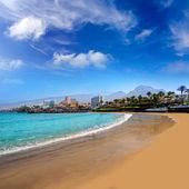 Playa las americas playa adeje costa en tenerife — Foto de Stock
