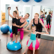 Aerobics pilates women kid girls personal trainer — Stock Photo #13299091