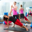 Aerobic Pilates personal trainer instructor women — Stock Photo #13300206