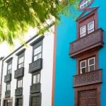 Santa Cruz de La Palma colonial house facades — Stock Photo #13300670