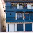 Santa Cruz de La Palma colonial house facades — Stock Photo #13300743
