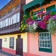 Santa Cruz de La Palma colonial house facades — Stock Photo #13300831