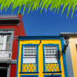 Santa Cruz de La Palma colonial house facades — Stock Photo #13300914