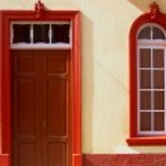 Santa Cruz de La Palma colonial house facades — Stock Photo #13301020