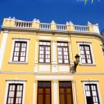 Santa Cruz de La Palma colonial house facades — Stock Photo #13301075
