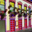Santa Cruz de La Palma colonial house facades — Stock Photo #13301123