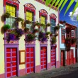 Santa Cruz de La Palma colonial house facades — Stock Photo #13301131
