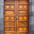 Ancient wooden door Santa Cruz de La Palma - Stock Photo