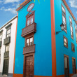 Santa Cruz de La Palma colonial house facades — Stock Photo #13301222