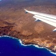 Aerial view from airplane of La Palma — Stock Photo #13301470